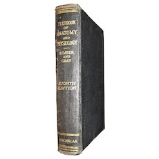 """Textbook Of Anatomy And Physiology"" by Diana Kimber. Hardcover 8th Edition 1931"