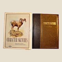 Character Sketches: From the Pages of Scripture Volume 2, HC Slip Cover, 1976 Stated 1st Edition, Illustrated, Large