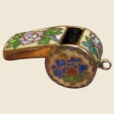 Wonderful Working Cloisonne Whistle Charm Pendant