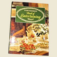 Portmeirion Book of Entertaining, Cookbook 1990 1st Edition HCDJ, Like New
