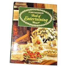 Portmeirion Book of Entertaining, Cookbook 1990 1st Edition HCDJ, Like New