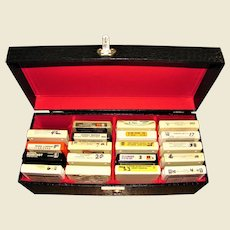 Vintage 8-Track Case With 19 8-Track Tapes 1960s 1970s