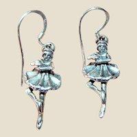 Sterling 3D Dancing Lady Earrings, Detailed!