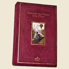 Around the World in 80 Days by Jules Verne HC Velvet Cover, Hallmark Collectors Edition