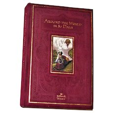 Around the World in 80 Days by Jules Verne HC Velvet Cover, Hallmark Collectors Edition