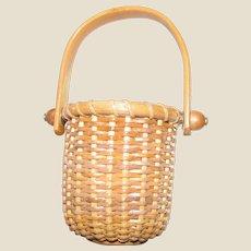 Handwoven Miniature Nantucket Basket