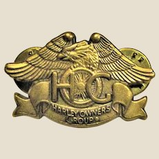 Brass H.O.G. Eagle Pin ~ Harley Davidson Owners Group (HOG) Like New