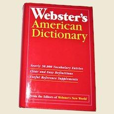 Webster's American Dictionary HCDJ Like New