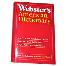 Webster's American Dictionary HCDJ Like New