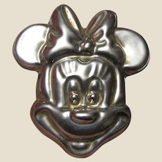 Huge Mexico TA-97 Sterling Silver Minnie Mouse Pin/Pendant, 22 Grams