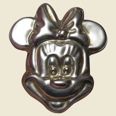 LARGE Mexico TA-97 Sterling Silver Minnie Mouse Pin/Pendant, 22 Grams