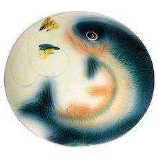 "Brad Keeler Majolica Fish & Fly 6 1/4"" Plate"