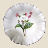 "Minton English Bone China Ruffled Bowl ""Melandrium"""