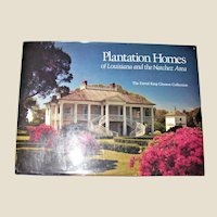 Plantation Homes of Louisiana and the Natchez Area by David King Gleason HCDJ 1st Edition, Large