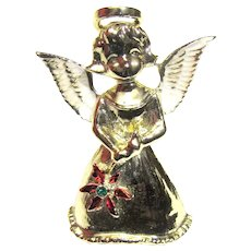 Christmas Angel w/ Poinsettia Pin by Gerry's