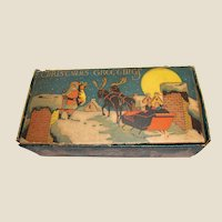 Antique Minature Christmas Candy Box