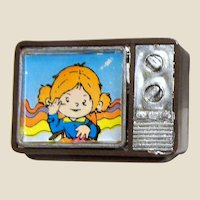 1970's Hard Plastic Doll House TV - Free Shipping