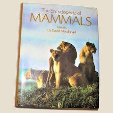 The Encyclopedia of Mammals by David W Macdonald 1987 HCDJ Nearly New
