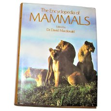 The Encyclopedia of Mammals by David W Macdonald 1987 HCDJ Nearly New