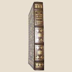 """Thomas Hardy's """"The Return of The Native"""", Franklin Library 1980 Hubbed Leather, Like New"""