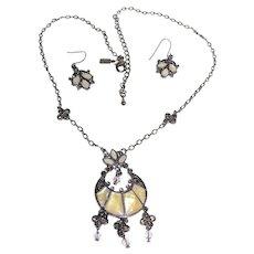 Edwardian Revival Necklace & Earring Suite by Lady Remington