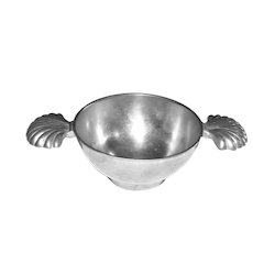 2 Handle Pewter Wine Tasting Cup by Loch Tollenaar, Dutch, Mint