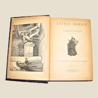 Antique Circa 1890's 'Little Dorrit' by Charles Dickens, Rare, Arlington Edition, Hardcover, VG