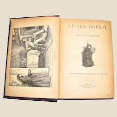 Antique Circa 1890's 'Little Dorrit' by Charles Dickens, Rare, Arlington Edition, Hardcover, VG
