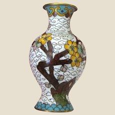 Ornate Miniature Cloisonne Vase for Doll House Display