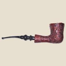 """Vintage Estate Smoking Pipe Marked """"Elite"""" and """"Israel"""" Sandblasted Brier Handmade in Israel"""