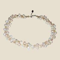 Leighton Lam Hawaiian Freshwater Pearl w/ Czech Fire Polish Bead Necklace