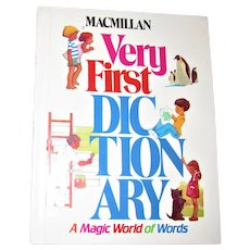 Very First Dictionary (for Children) : A Magic World of Words by Macmillan Publishing, 1983 Hardcover, Like New