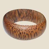 Hand Turned Palmwood Bangle, Deep Profile, Showy Grain