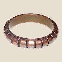 Vintage Modernist Copper Bangle Bracelet