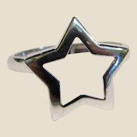 Sterling Star Ring Stackable Design Sz 6