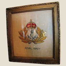 WW1 Royal Navy Embroidered Insignia