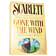 Scarlett by Alexandra Ripley 1991 1st Edition, 1st Printing, HCDJ Sequel to Gone with the Wind