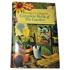 Gardening 1966, Complete Book of the Garden by Reader's Digest  HCDJ 1st Edition 1st Printing, Near Mint