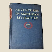 Adventures in American Literature: Laureate Edition (1963 Hardcover) VG+