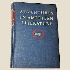 Adventures in American Literature: Laureate Edition (1963 Hardcover) VG+