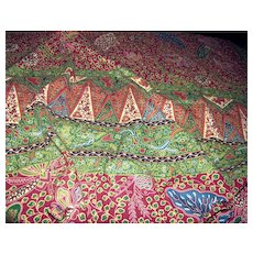 2 Yd Remnant Vibrant Holland African Wax Print Fabric
