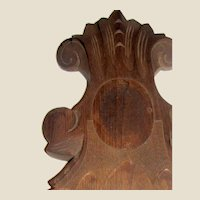 "Victorian 15 1/2"" Hand Carved Walnut Architectural Element"