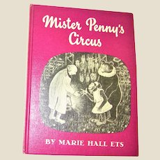 Mr. Penny's Circus by Marie Hall Ets HC 1961 1st Edition, Weekly Reader Children's Book, Illustrated, Nearly New