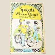 Sprout's Window Cleaner by Jenifer Wayne HC 1971 1st Edition, Weekly Reader Children's Book, Illustrated, Nearly New