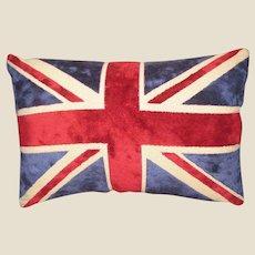 Luxurious Cut Chenille Union Jack Pillow