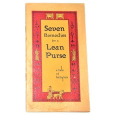 Seven Remedies for a Lean Purse - a tale of babylon (pocket edition) 1939 SC, Nearly New, Very Rare
