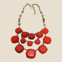 Dramatic Goldtone & Hard Plastic Necklace by Stella & Dot