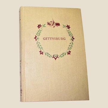 Gettysburg by MacKinlay Kantor 1952 Hardcover,  Landmark Books 6th Printing, Illustrated VG+