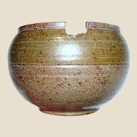 Signed Hand Made Pottery Open Sugar Bowl