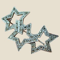 Sterling & Marcasite Star Pin